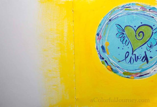 Nov2013 StencilClub - Art Journal - Carolyn Dube