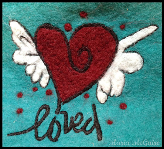 Nov2013 StencilClub - Needle Felting with Stencils - Maria McGuire