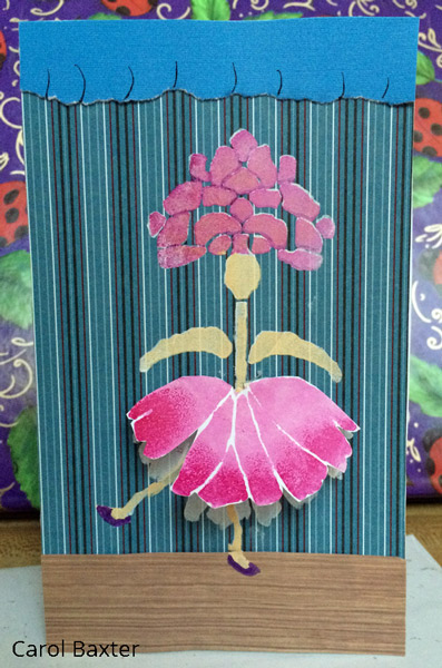 Nov2016 Stencil Club - Stenciled Handmade Card - Carol Baxter