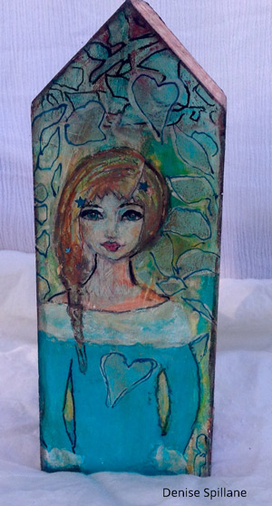 Nov 2016 StencilClub - Stenciling on Wood - Denise Spillane