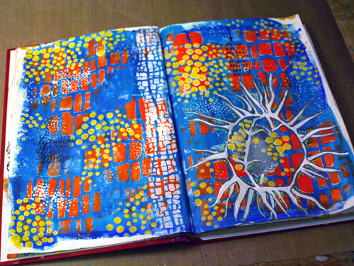 October 2014 StencilClub - Art Journal - Gwen Lafleur