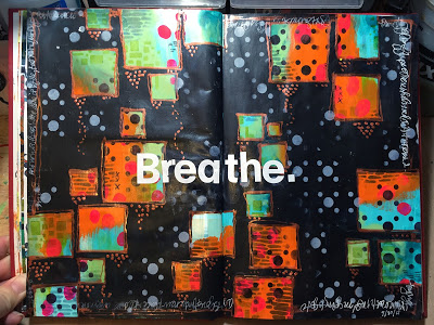 Oct2015 StencilClub - Art Journal - Gwen Lafleur