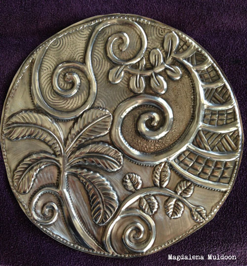 Pewter Embossing with Stencils Tutorial - Magdalena Muldoon