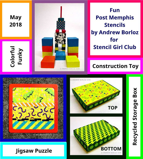 Post Memphis Stenciled Projects by Andrew Borloz