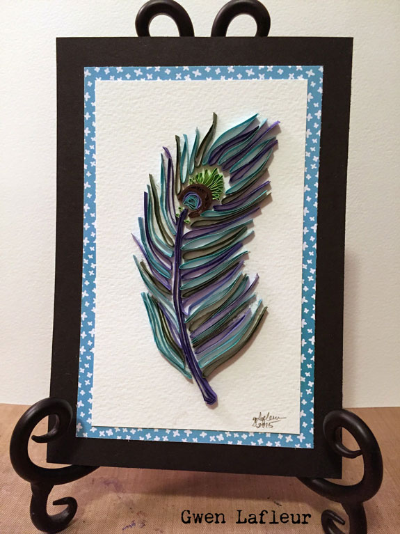 Quilled Card with Stencils Tutorial by Gwen Lafleur