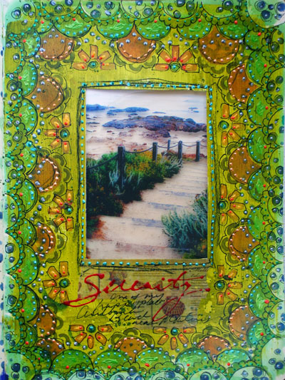 Sept. 2014 StencilClub - Art Journal - Gwen Lafleur