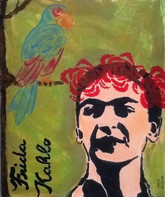 Sept2013 StencilClub - Art Journal - Raine Phoenix