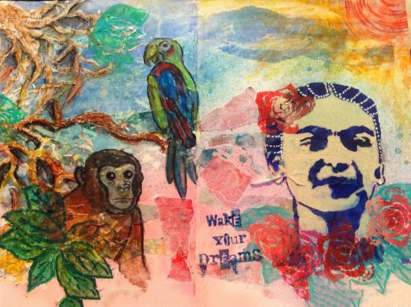 Sept2013 StencilClub - Art Journal - Yvonne Fay