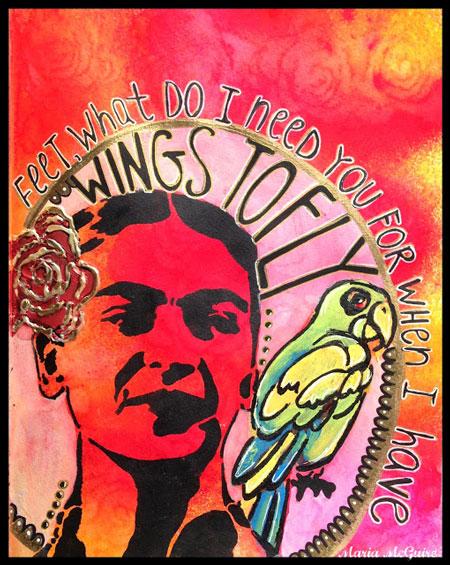 Sept2013 StencilClub - Art Journal 1 - Maria McGuire