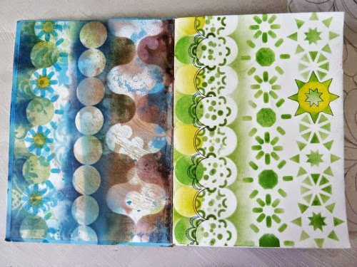 Sept. 2014 StencilClub - Art Journal 1 - Janet Joehlin