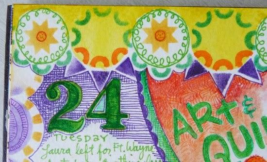 Sept. 2014 StencilClub - Art Journal 2 - Janet Joehlin