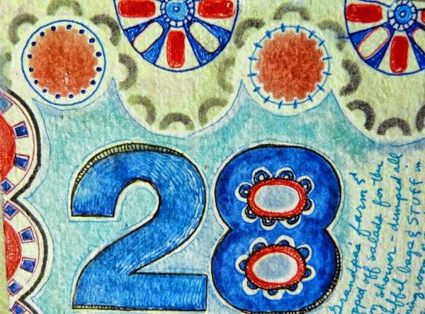 Sept. 2014 StencilClub - Art Journal 3 - Janet Joehlin