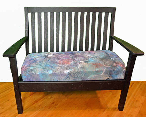June2017 StencilClub - Stenciled Bench Cushion - Carol Wiebe