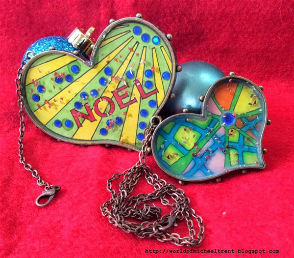 Stencil Doodling Necklace Ornament Tutorial - Michael Trent