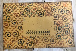 March 2019 StencilClub - Stenciled Envelope - Ann Butler