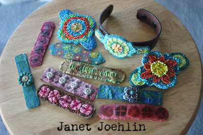 Stenciled Beaded Bracelets by Janet Joehlin
