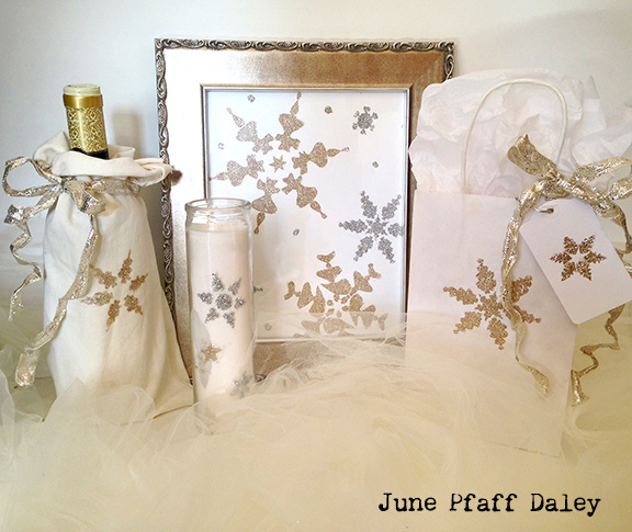 Stenciling with Glitter Tutorial - June Pfaff Daley