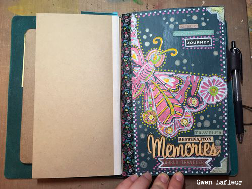 Make Your Own Traveler Notebook Insert with Stencils - Gwen Lafleur