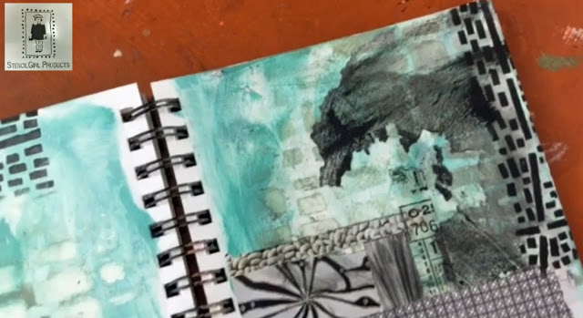 Apr2016 StencilClub - Art Journaling 2 - Mary Beth Shaw