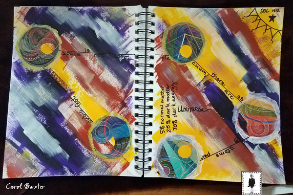 Feb2017 StencilClub - Art Journal Page - Carol Baxter