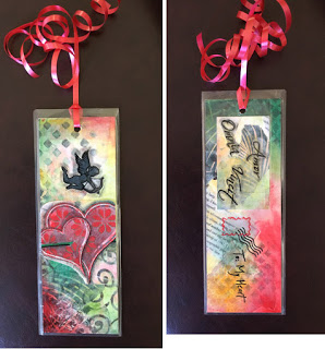 March 2019 StencilClub - Stenciled Bookmarks - Vanessa Bennett