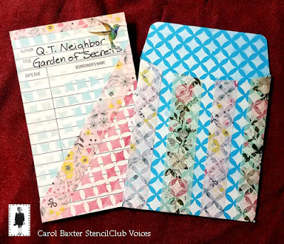 March 2019 StencilClub - Stenciled Pocket - Carol Baxter