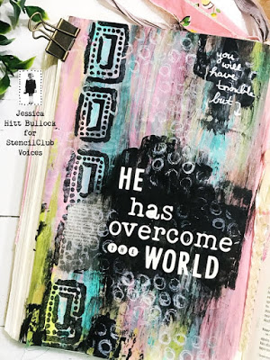 June 2019 StencilClub - Bible Journaling - Jessica Bullock