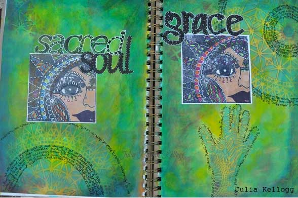 Art Journal Spread by Julia Kellogg