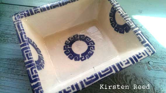 Stenciled Home Accent Bowl - Kirsten Reed