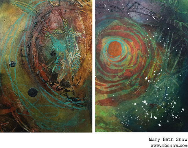 Dec2015 StencilClub - Mixed Media - Mary Beth Shaw