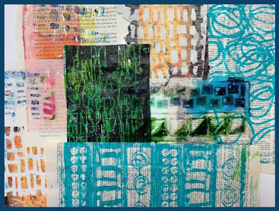 Aug 2019 StencilClub | Mixed Media Art | Mary Beth Shaw & Carolyn Dube