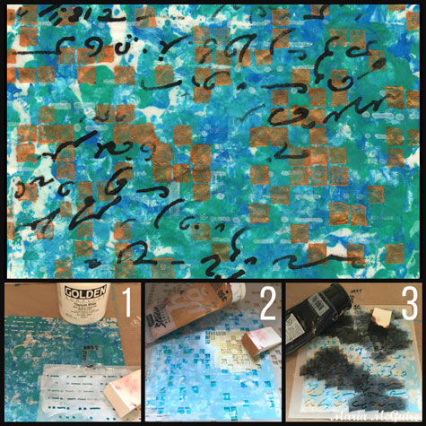 Sept2015 StencilClub - Art Journal Background - Maria McGuire