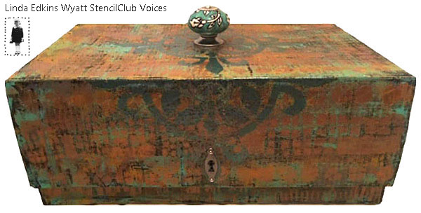 Jan 2019 StencilClub - Stenciled Home Decor Box - Linda Edkins Wyatt