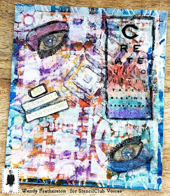 April 2019 StencilClub - Art Journaling 2 - Wendy Featherstone