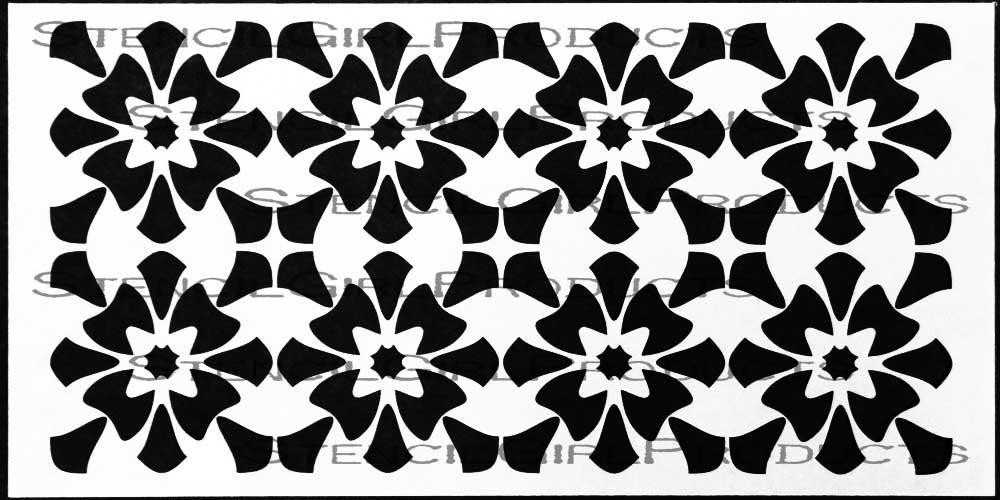 Fleuron Home Decor Stencil Steven Skaggs Stencilgirl Products