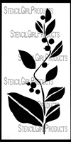 Leaves and Berries Stencil by Jennifer Evans
