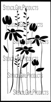 Daisy Wildflower Stencil by Jennifer Evans