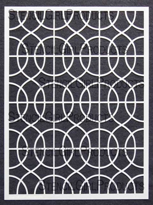 Curvy Lattice Stencil by Mary Beth Shaw
