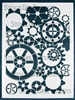 Gears Stencil by Mary Beth Shaw