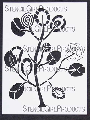 Modern Tree Stencil by Mary Beth Shaw
