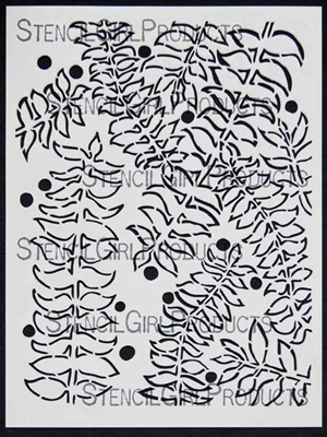 Vines Stencil by Jane LaFazio