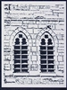 Church Windows Stencil by Margaret Applin