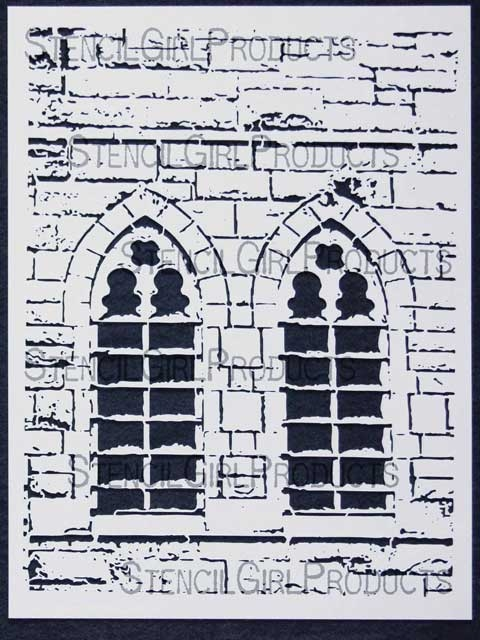 Church windows stencil by margaret applin larger photo