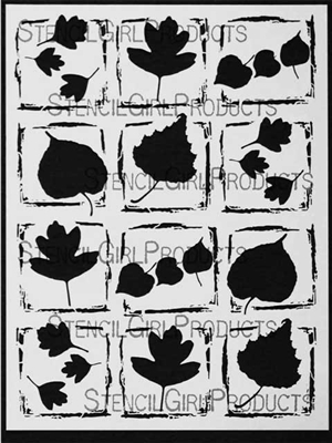 Leaf Poetry Stencil by Margaret Applin