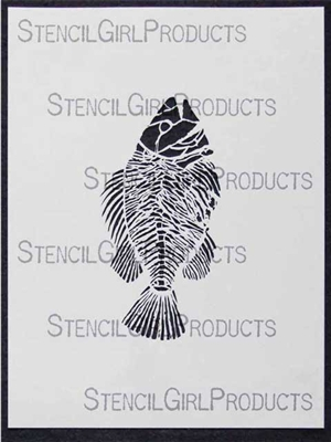 Fossil Fish Stencil by Mary Beth Shaw