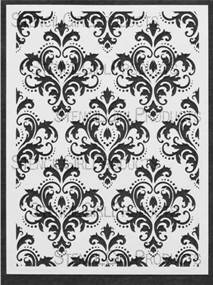 Damask Medium Stencil by Michelle Ward