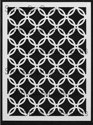 Chain Mail Large Stencil by Mary Beth Shaw