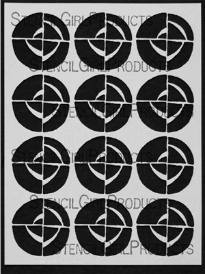 Spinners Stencil by Terri Stegmiller