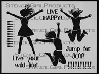 Jump For Joy Stencil by Jessica Sporn