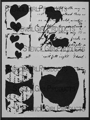 Valentine of Mine Stencil by Margaret Applin